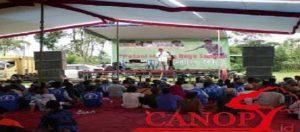 Perwakilan petani Malang Raya menyampaikan pernyataan terkait perebutan penggunaan air. Foto: Davieq/ Canopy